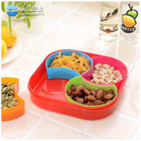 wholesale stainless steel flower tray with handle tempered glass serving tray fruit tray