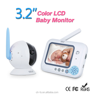 3.2'' lcd color screen digital design baby monitor music lullabies