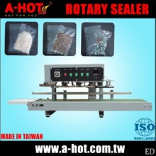 Conveyor Plastic Food Bag Tabletop Vertical Rotary Sealer