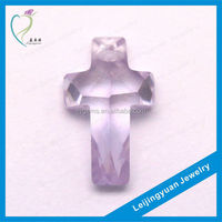 Beautiful cross shape unpolished gemstones