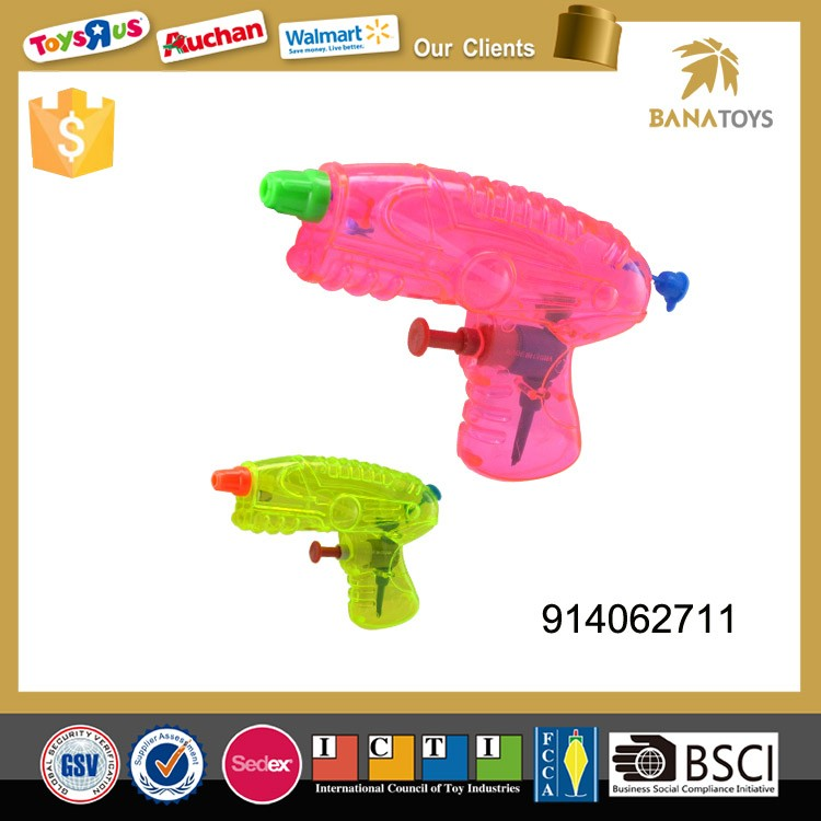 Small transparent real water gun for kids