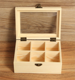 compartments wooden tea bag jewelry organizer box storage box with glass top