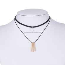 European style gift multilayer pendant choker necklace women with extension chain
