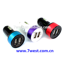 2014 New Promotional 5V 3.1A Dual Port USB Car Charger for HTC Mobile Phone Tablet PC
