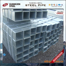 Hollow tubes / Fence thin wall Q235 Hot dip zinc coated GI galvanized rectangular steel pipe