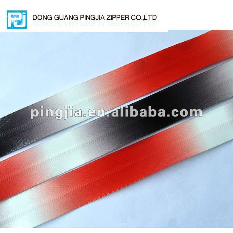 High quality decorative long chain waterproof zipper PVC zipper nylon zipper