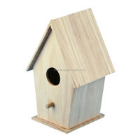 Cheap large outdoor arts mind wooden bird house