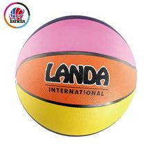 Brilliant quality official size and weight rubber rainbow basketball