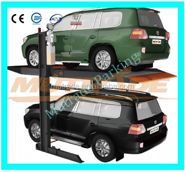 Good quality two post parking car lift for vehicles with shock price
