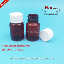 35-40ml plastic tablet bottle containers / small empty brown color pill medicine plastic bottles