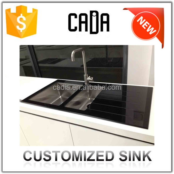 Factory Price shipping from china hot sale good quality 2 bowl stainless steel sink with drainer