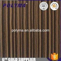 Zebrano Wood Pvc Film Kitchen Cabinet Furniture Protect Film