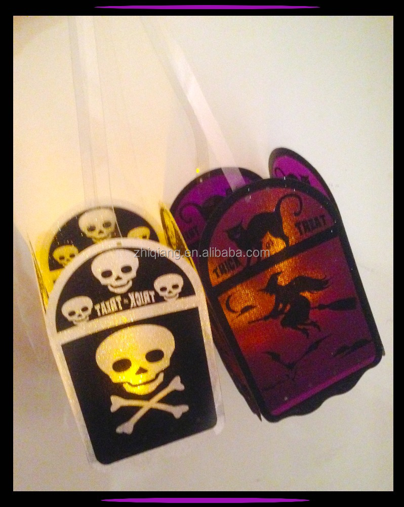 Halloween light up trick candle bag