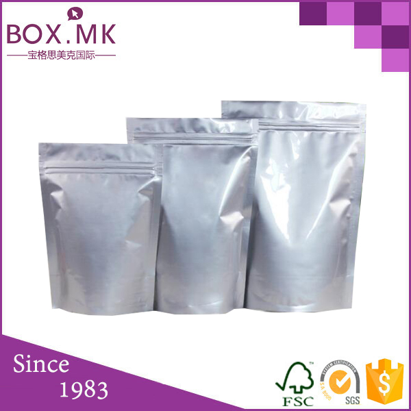 Food Grade Stand Up sudan grass seeds packaging bags foil pouch