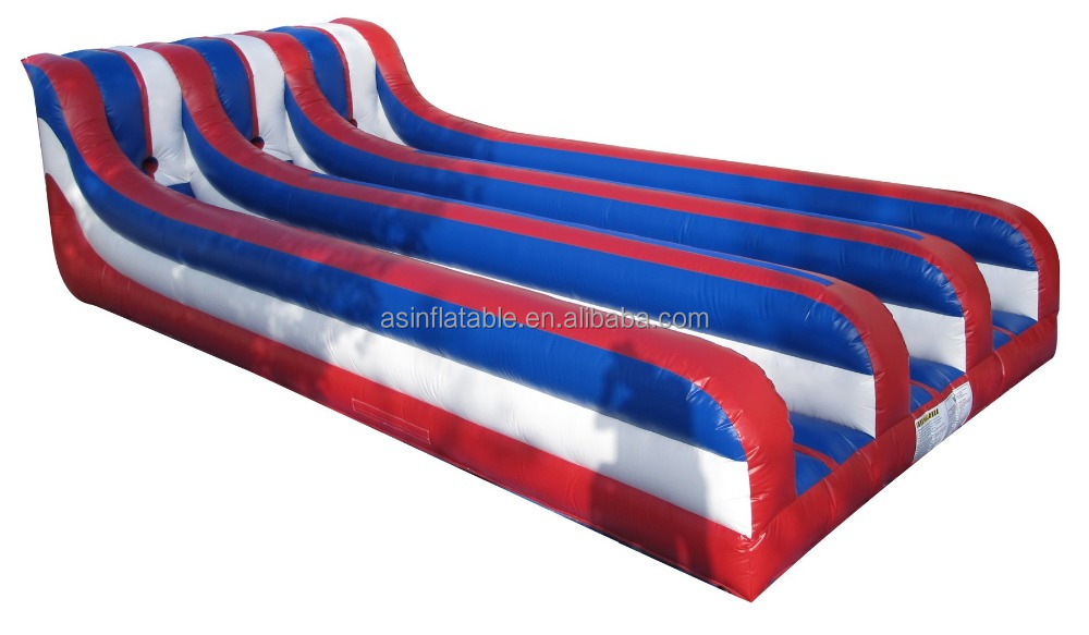 Three lanes inflatable bungee run for sale juegos inflables