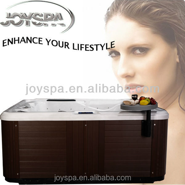 Square small bathtubs sizes with 7 seats outdoor spa bath - JY8015(factory)