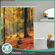 Luxury tree design shower curtain for home