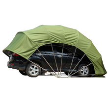 green portable folding car garage