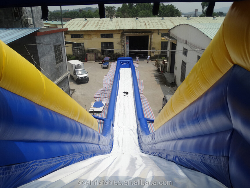 hot sale giant inflatable water slide with pool for adult