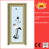 SC-AAD073 mirror glass,tempered glass bathroom design aluminium door