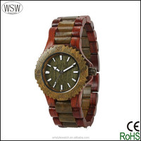 2035 movement mixed color customized own brand wooden watches