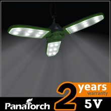 3.7V rechargeable solar led hanging light with 3-wings for tent, awning,camping,outdoors