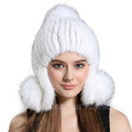 CX-C-165D Wholesale Price Custom Mink Fur Women Winter Fashion Beanie Hat