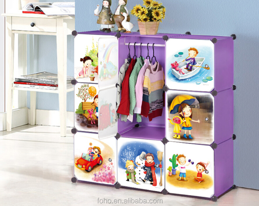 Best Selling French Cartoon Armoire Almirah Wardrobe