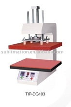 sublimation heat press machine for sublimation garment transfer printing both sixde on same time to save the cost