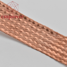 China Made flexible braided copper wire connector