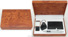 wholesale luxury men's watch set gift with wallet pen keyring