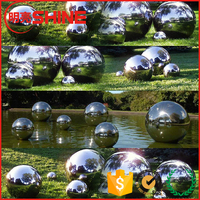 10cm 20cm 25cm 0.5m 0.8m 1m Large Hollow Stainless Steel Silver Floating Mirror Gazing Ball