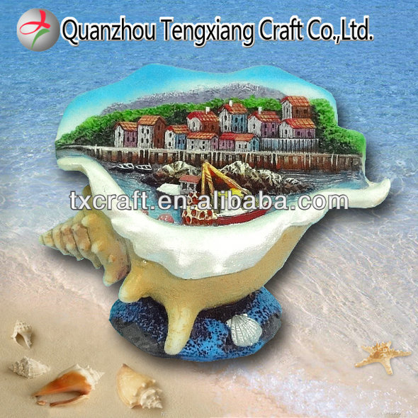 colourful handicraft sea shell souvenir