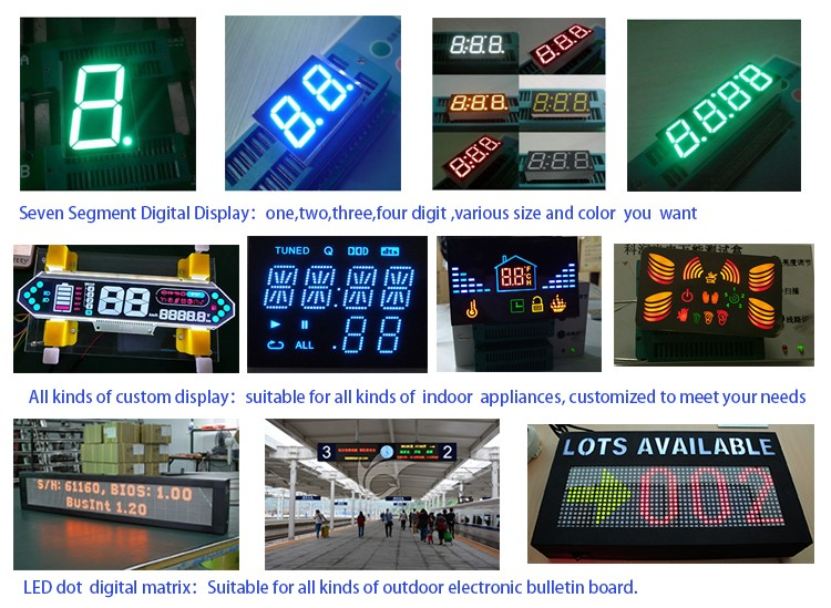 Carefully crafted common cathode 3 inch ultra red 1 digit 7 segment led display
