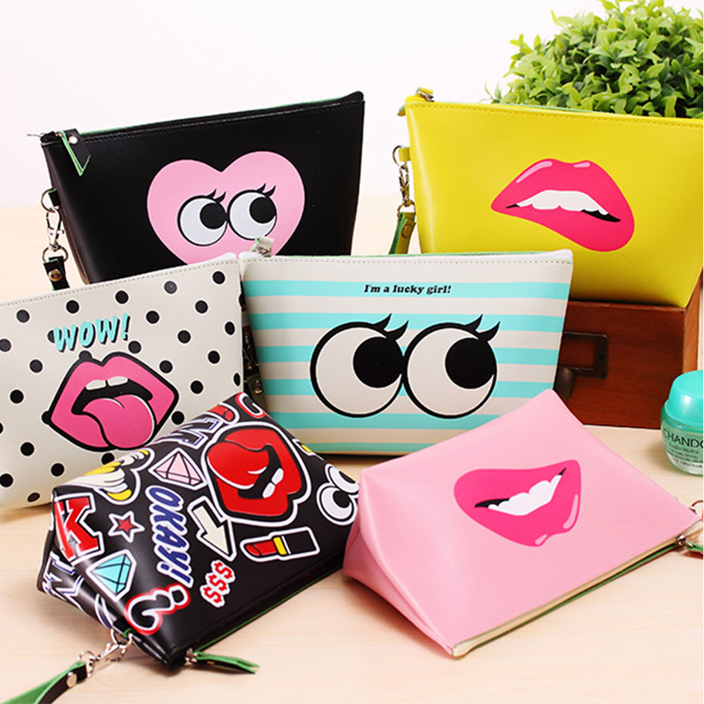 Wholesale cheap travel cosmetic bag make up pouch personalized cosmetic bag