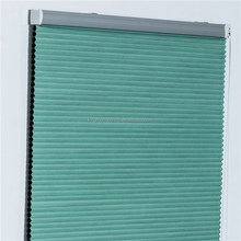 Pure paper shutter green color factory producted cordless pleated blinds