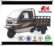 1 cylinder 4 stroke heavy truck closed cabin tricycle with cargo box