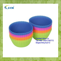 G-2015 Wholesale Kitchen Reusable Silicone Cupcake Liners - BPA Free -
