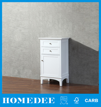 Simple style white antique bathroom linen cabinet vanity, bathroom furniture