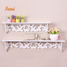 European carved pattern diy wall shelf decor for living room FH-BL003