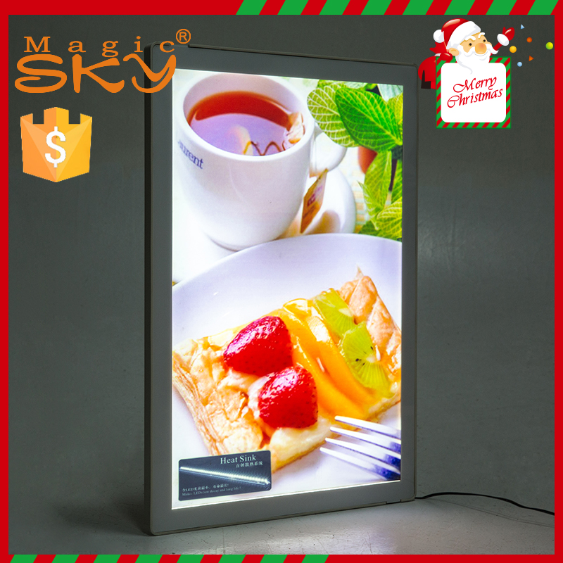 Christmas outdoor decorations magnetic acrylic advertising <strong>led</strong> light <strong>box</strong>
