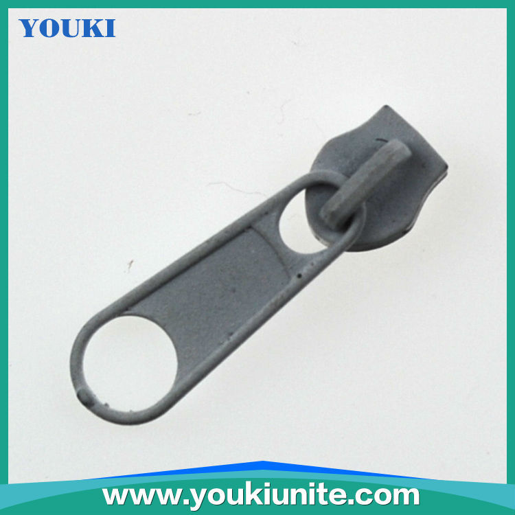 blue color custom logo rubber zipper puller