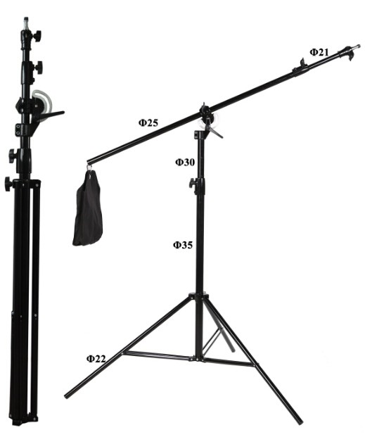2 IN 1 Light stand Tripod Photographic stand multi-functions light stand