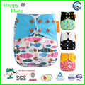 Happy Flute os washable baby nappy Adjustable One Size Pocket Cloth Diaper W/ Insert