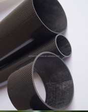 3k diagonal web high glossy finish Carbon Fiber material , twill epoxy Carbon Fiber pole ,