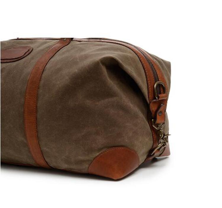 Personnalisé en cuir véritable et toile épaule fourre-tout week-end designer bagages voyage sac organisateur