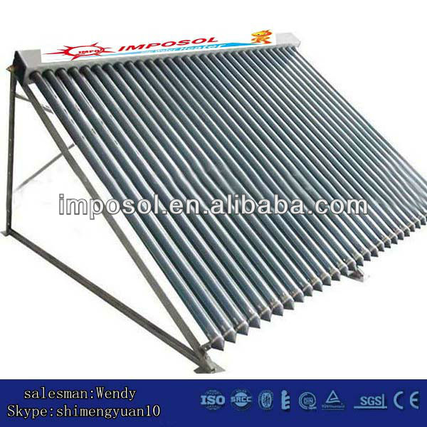 swimming pools vacuum tube heat pipe solar power system/solar collector
