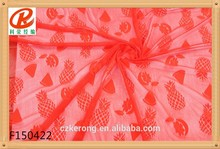 hot sale decorative net lace, Ripple lace fabric for panties african orange cord