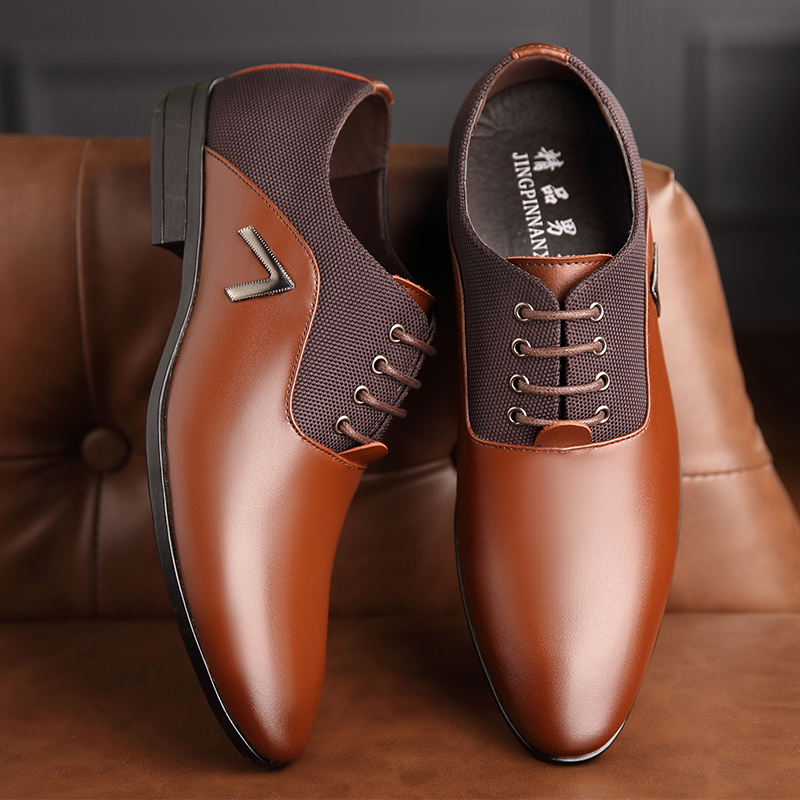 Factory direct men's leather shoes business dress men's shoes leather shoes AliExpress foreign <strong>trade</strong> original single wholesale