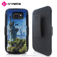 Low price china mobile phone case 3D printed design robot combo case for samsung s7 active/ G891 compatible brand